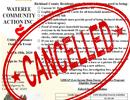 Outreach Event Cancelled