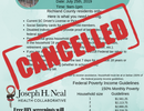 Cancelled Outreach Event 07/25/2019